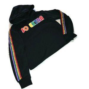 Modern Lux Black & Rainbow Sweatshirt